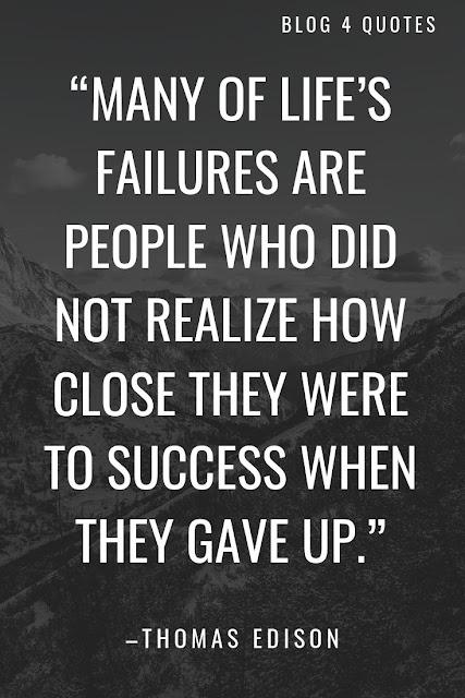 Never give up speech