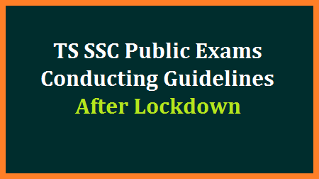 Directorate of Government Examinations, Telangana State has issued guidelines to conduct SSC/10th Class Public Examinations after Covid19 Lockdown. instructions are issued to identify additional Examination Centres, CS DOs and Invigilators to conduct the 10th Examinations smoothly