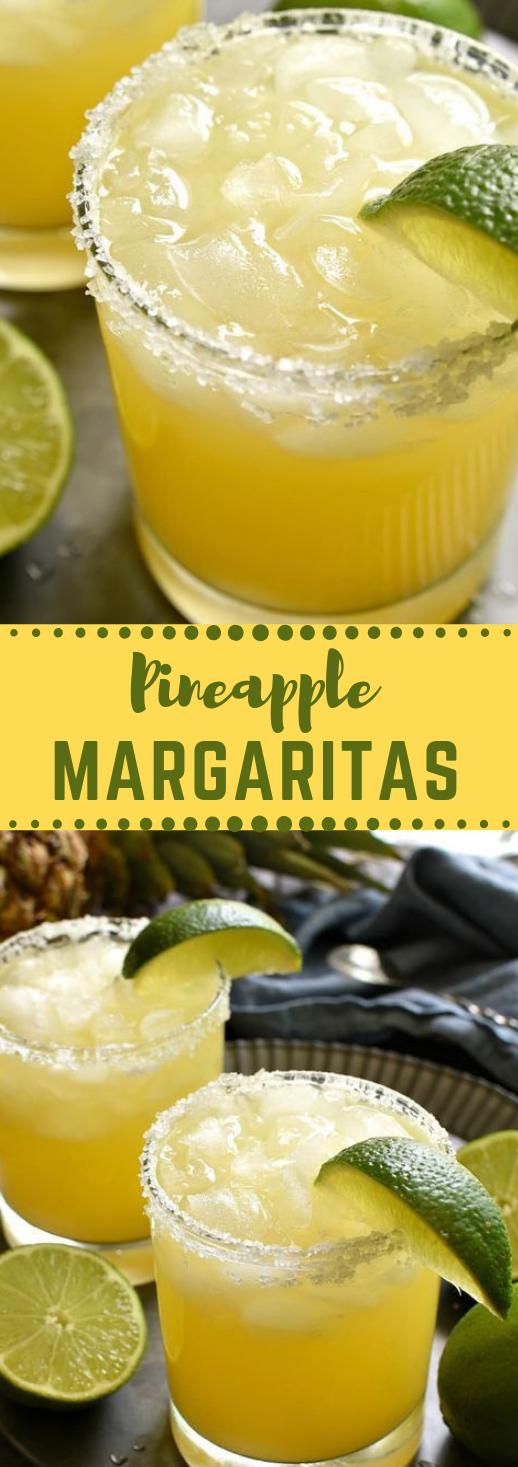 PINEAPPLE MARGARITAS #drink #healthy #smoothie #coktail #banana