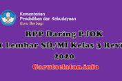 RPP Daring PJOK 1 Lembar SD/MI Kelas 3 Revisi 2020