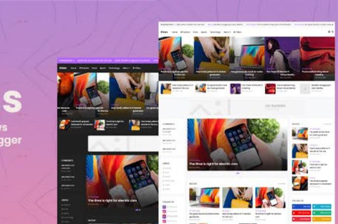 Download Glass – Responsive News & Magazine Blogger Template