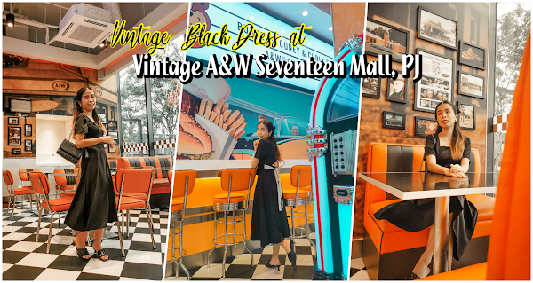 Vintage Black Dress at Vintage A&W Seventeen Mall, PJ
