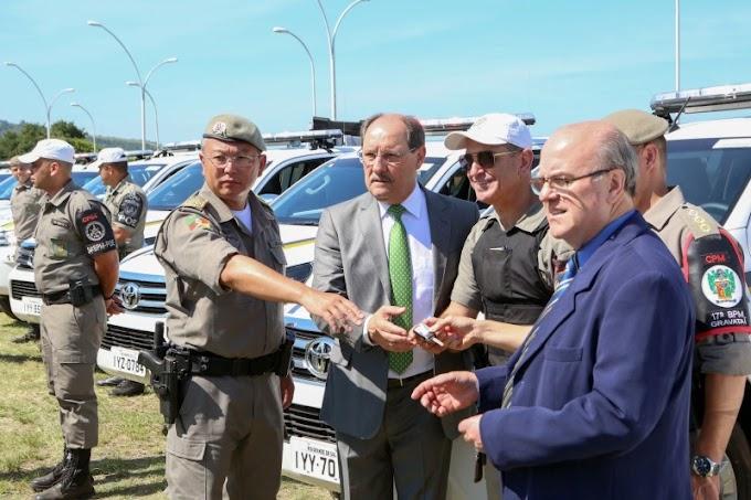 Sartori entrega mais 202 novos veículos para órgãos de Segurança Pública