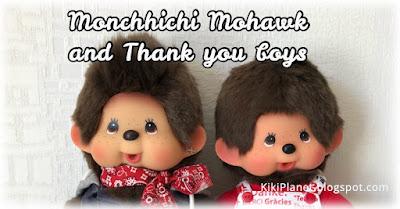 kiki Monchhichi mowahk thank you m-size collector mohican rare plush