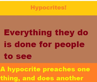 Hypocrisy of those who preach Jesus Christ is God;