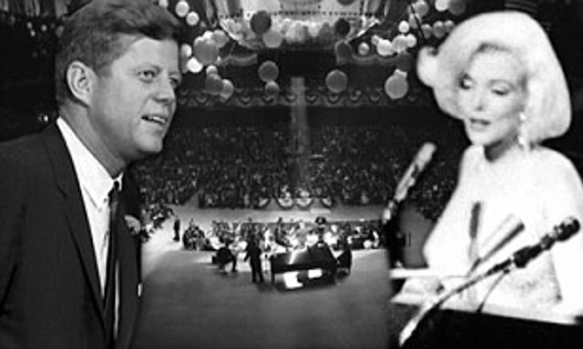 "Marilyn Monroe sang ""Happy birthday, Mr President"" to John F Kennedy, at Madison Square Garden in New York City."