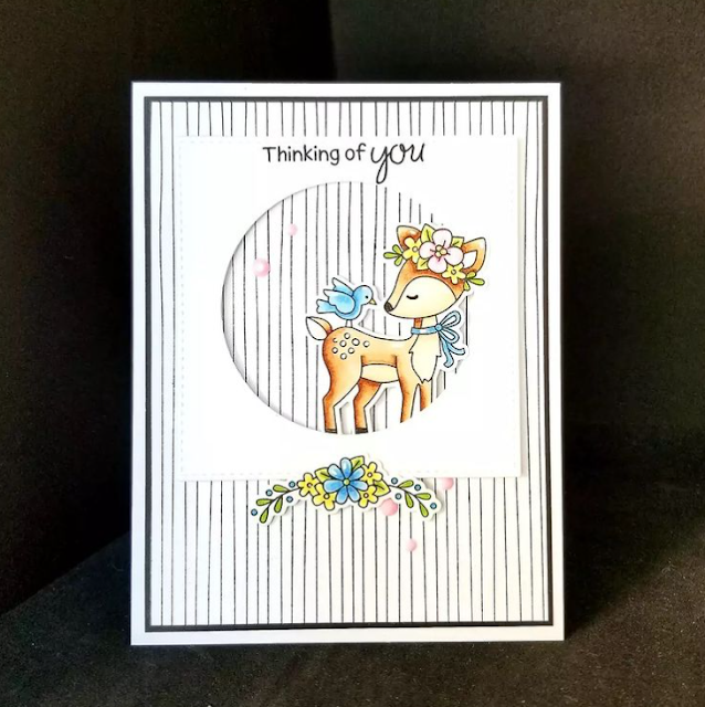 Thinking of you by Karen features Woodland Spring by Newton's Nook Designs; #inkypaws, #newtonsnook, #cardmaking
