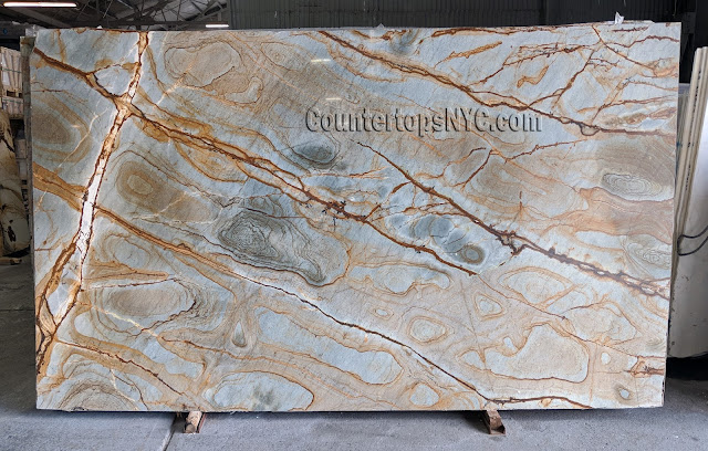 Stone wood quartzite slabs for countertops