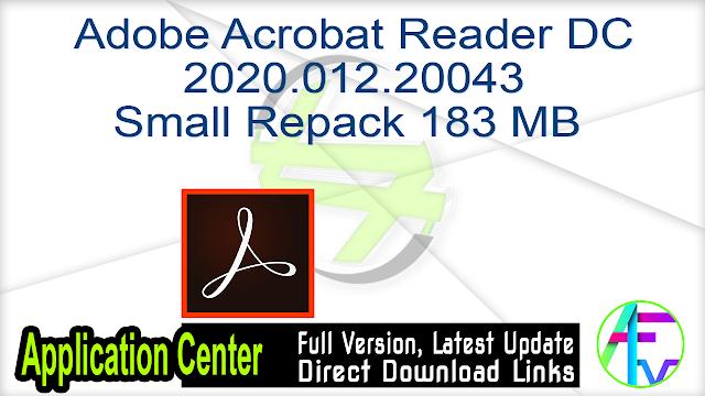 Adobe Acrobat Reader DC 2020.012.20043 Small  Repack 183 MB