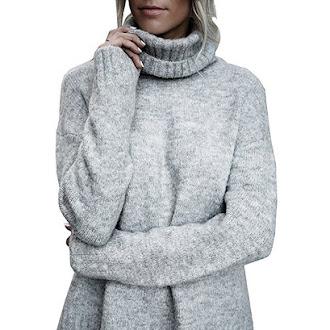 women winter cardigan turtleneck sweater