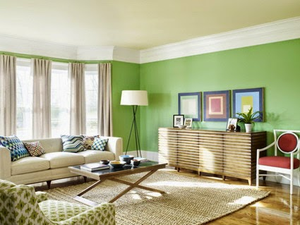 Contemporary Green Living Room Design Ideas - Style Dreams ...