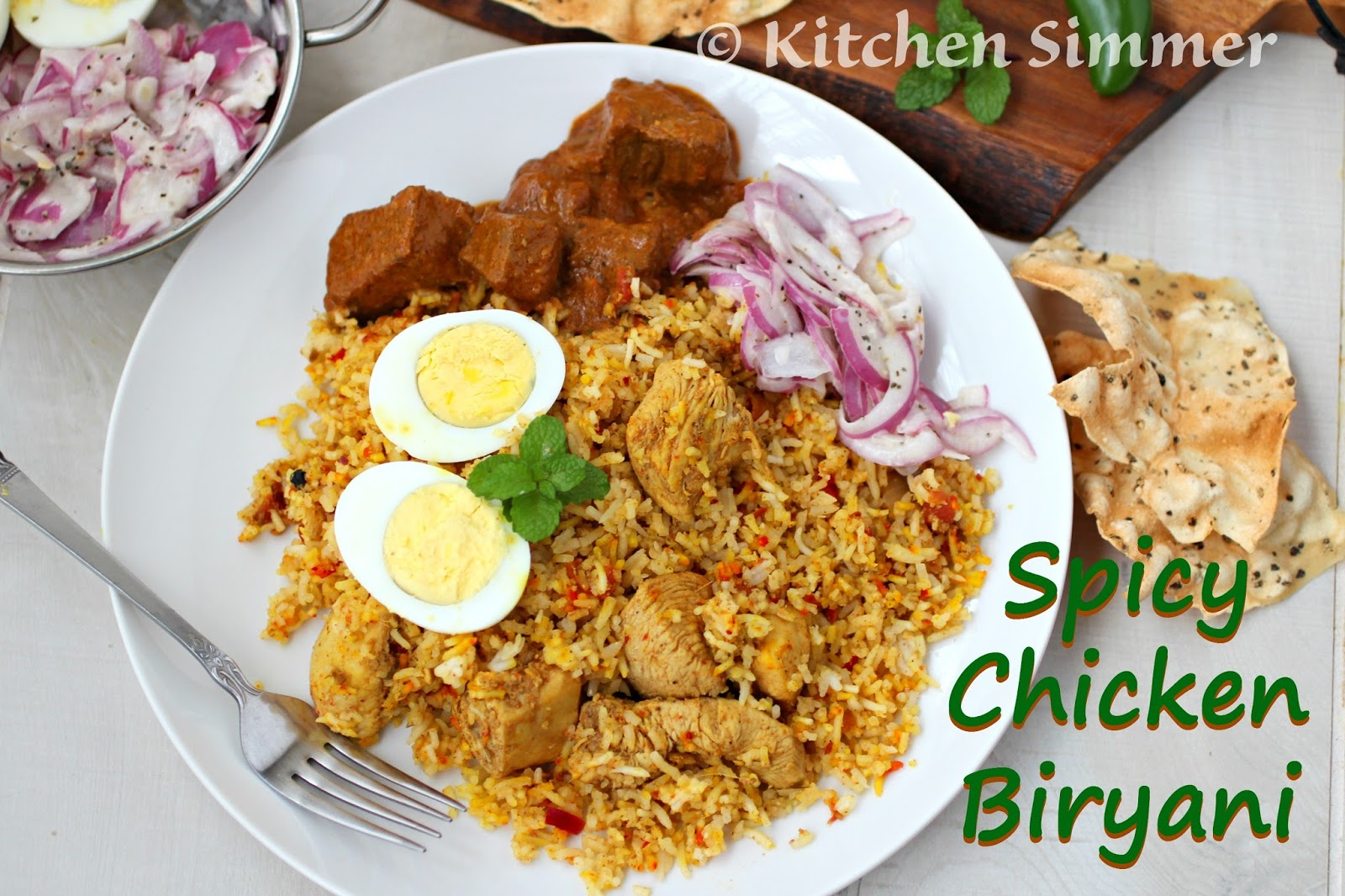 Kitchen Simmer Spicy Chicken Biryani