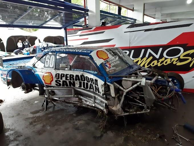 Por un accidente múltiple, Juan Manuel Guardia no podrá correr este fin de semana en el Mouras