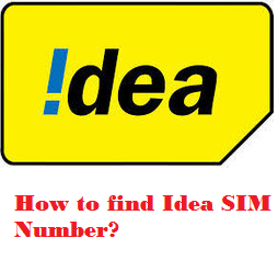 How to find Idea Sim's number?