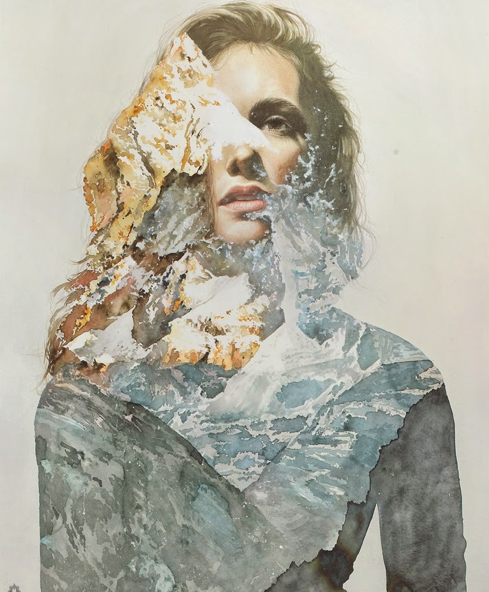 17-Oriol-Angrill-Jordà-Double Exposure-Watercolor-Paintings-www-designstack-co