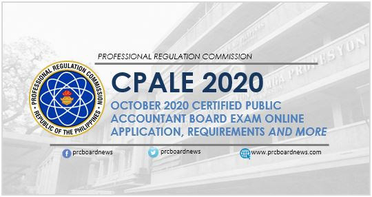 Online Application: October 2020 CPA board exam