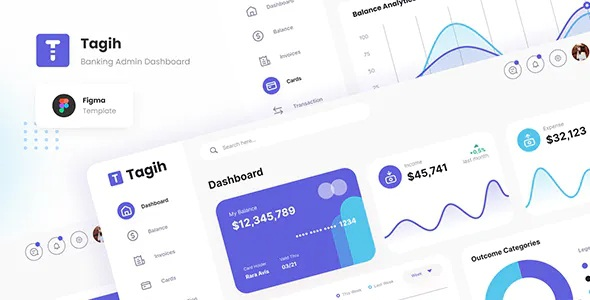 Best Simple Neat Banking Admin Dashboard Figma Template