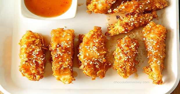 General Tso's Sweet Chili Baked Chicken Strips Recipe
