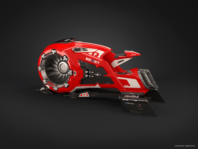 The concept jet bike of the future