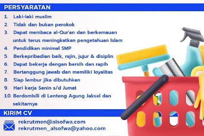 Lowongan Pekerjaan Office Boy di Yayasan Al-Sofwa Jakarta Selatan