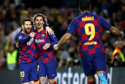 Itssss 4-1 in camp nou...2 Goals By #Messi, 1 By #Suerez, 1 By #Griezmann. Its MSG show -Captain #Messi...