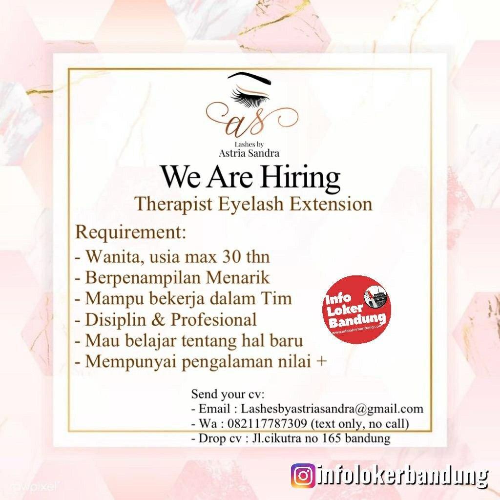 Lowongan Kerja Therapist Eyelash Extension by Astria Sandra Bandung Februari 2020