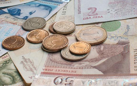 levas búlgaras dinero monedas billetes