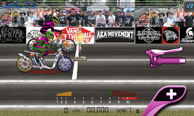 Download game drag bike 201m Apk mod by rizky 2016