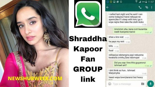 Join 15+ Shraddha Kapoor Fans WhatsApp Groups Links latest updates
