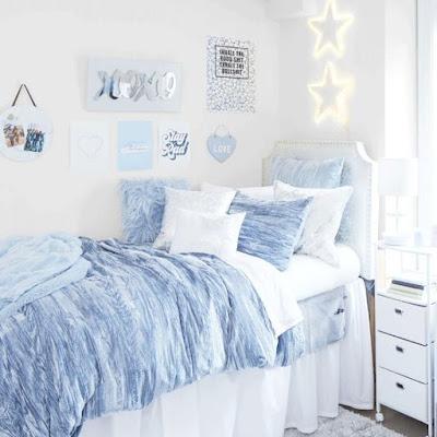 Inspirasi Kamar Warna Biru Soft Yang Sederhana dan Estetik