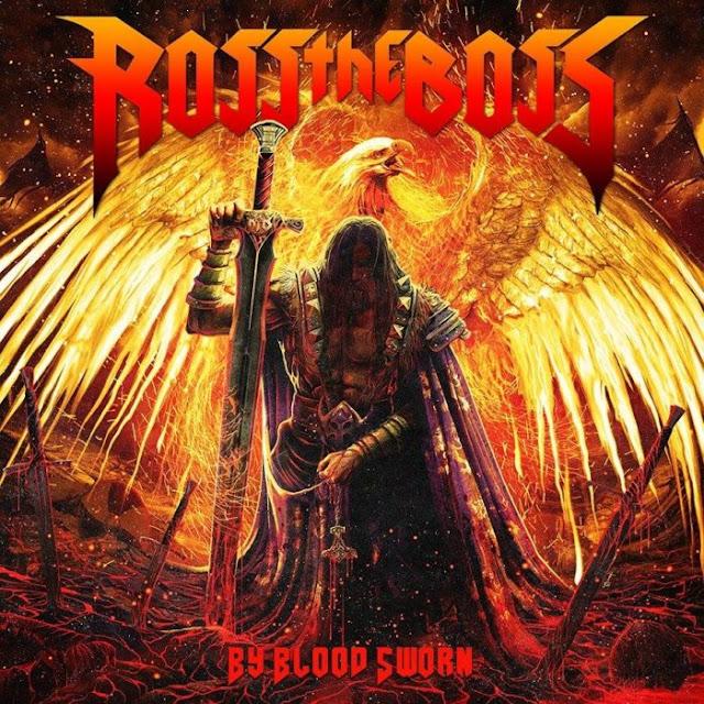 """Ross The Boss - """"By Blood Sworn"""" artwork 2018"""