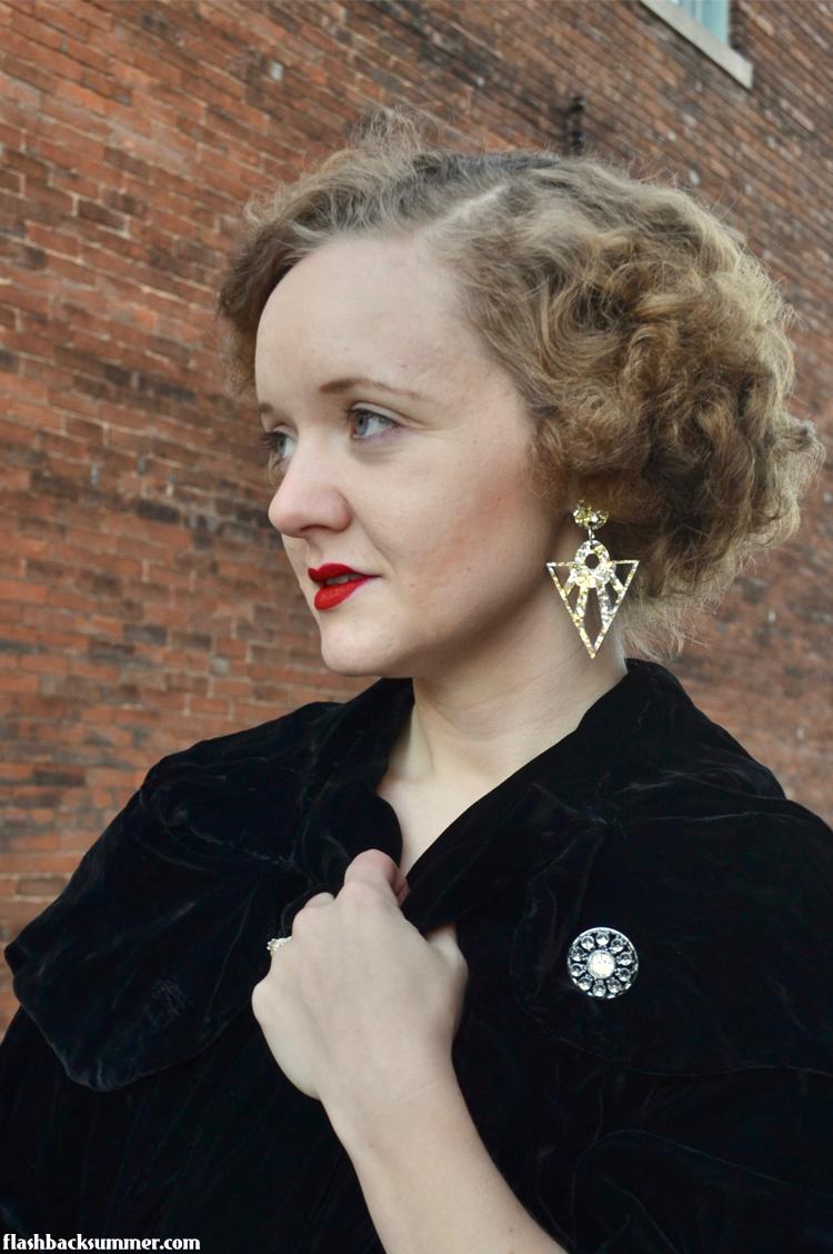 Flashback Summer: Art Deco Revere Folie earring review 1920s