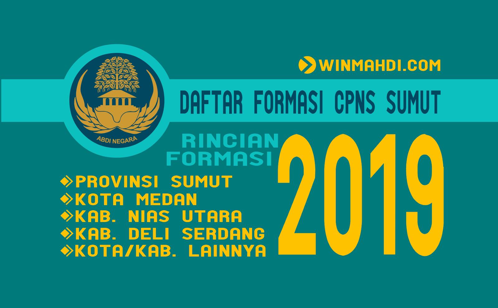 Formasi CPNS SUMUT 2019