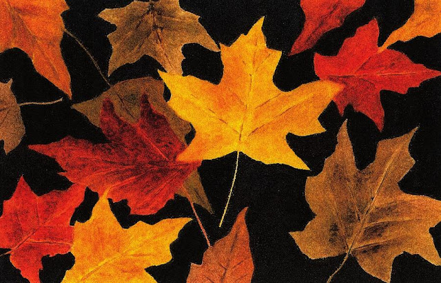 Autumn Leaves Painting by Michael Vigliotti