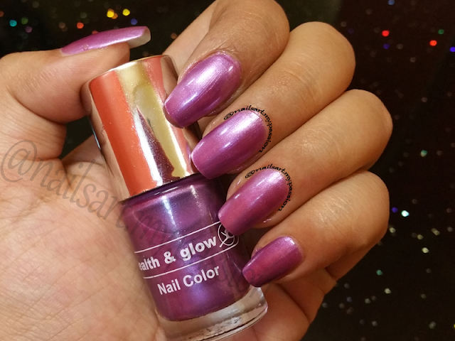 Shade S641 Mauve by Health & Glow Swatch & Review