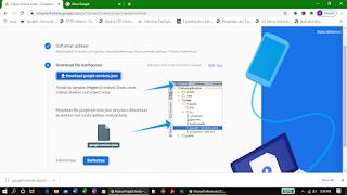 Mengunduh file konfigurasi google-service.json