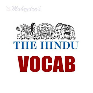 The Hindu Vocabulary For SBI Clerk and Syndicate Bank PO | 29 - 01 - 18