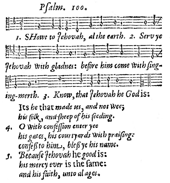 Psalm 100, Old 100th (Image Passamezzo)