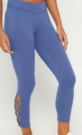 rue21 Blue Lace Up Ankle Legging