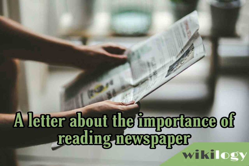 write a letter to your friend about the importance of reading newspaper
