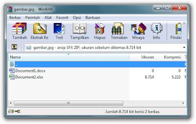 Cara Menyimpan File dalam File Gambar