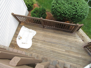 View from 2nd floor deck  to 1st. floor deck