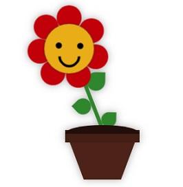 анимированный цветочек