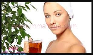 الشاي الاسود للبشرة والشعر