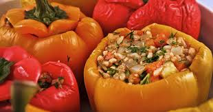 Stuffed peppers with vegetables