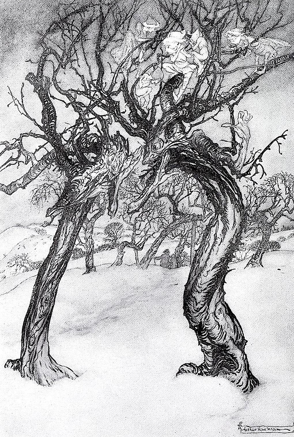 talking trees by illustrator Arthur Rackham