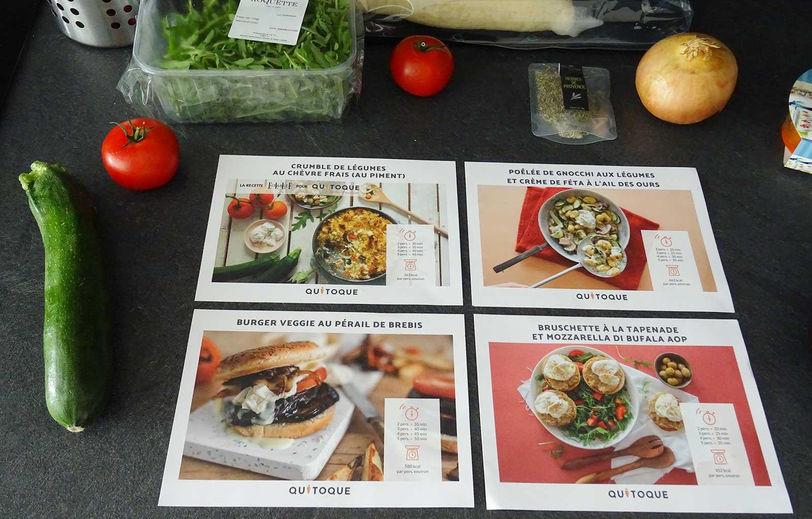 Panier à cuisiner Quitoque recettes