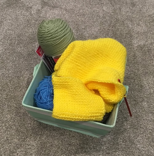 My crochet basket