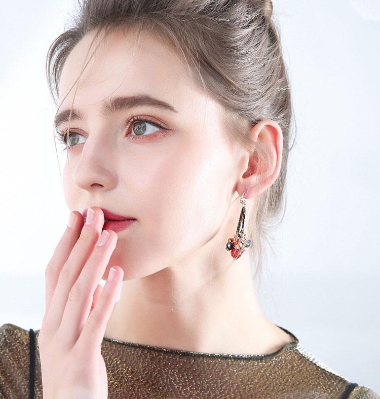 民族風多彩耳環