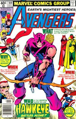 Avengers #189, Hawkeye